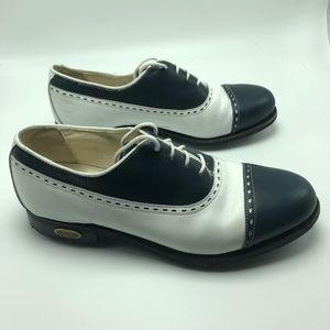 FootJoy Women's Golf Shoes Size 8.5 C White/Navy